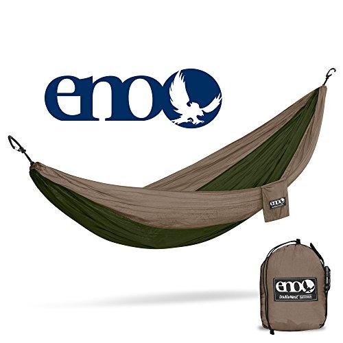 Eagles Nest Outfitters ENO DoubleNest Hammock, Portable Hammock for Two, Khaki/Olive (Art Olive Festival)