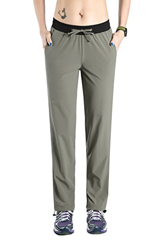 Nonwe Women's Outdoor Quick Dry Jogger Pants Light Gray S/30 Inseam by Nonwe