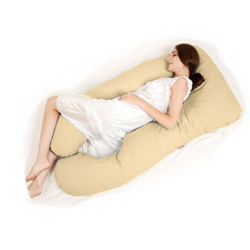 Large U Shape Contoured Body Pregnancy Nursing Maternity Pillow Cozy Comfortable