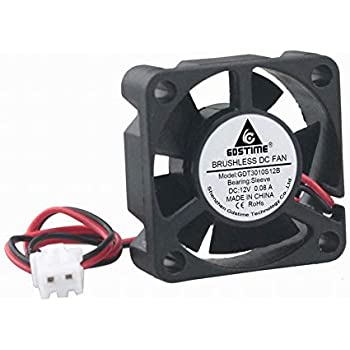 GDSTIME 30mm x 30mm x 10mm 1 inch Small 12V DC Brushless Cooling Fan