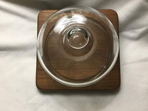 Cheese Cover with Teak Wood Base