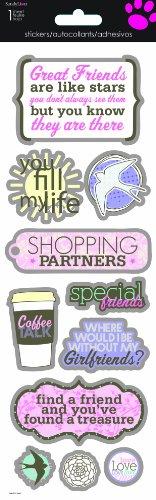 Sandylion Girlfriends Chipboard Foil Sticker, 4 by ()