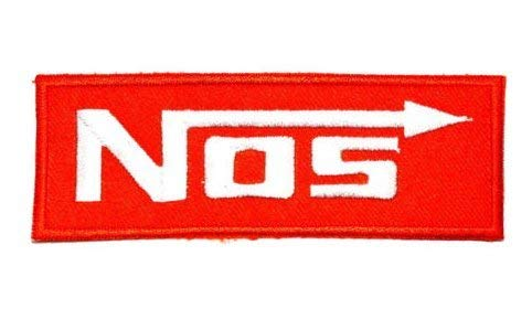 NOS Nitrous Oxide Systems Sport Racing Motorcycle Car Laughing Gas Embroidery Patch (BTDW)