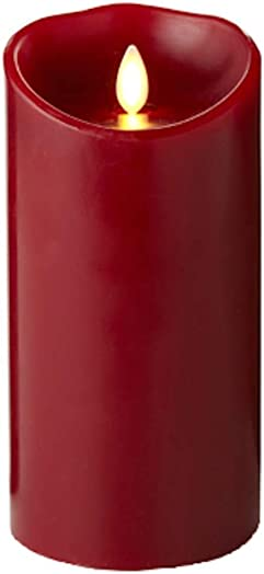 Luminara Flameless Candle Cinnamon Scented Moving Flame Candle with Timer 7 Red