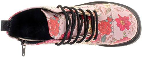 De T2229 Skull Bottines Multicolore And K Combat u Roses T Shoes wqSHxBPt