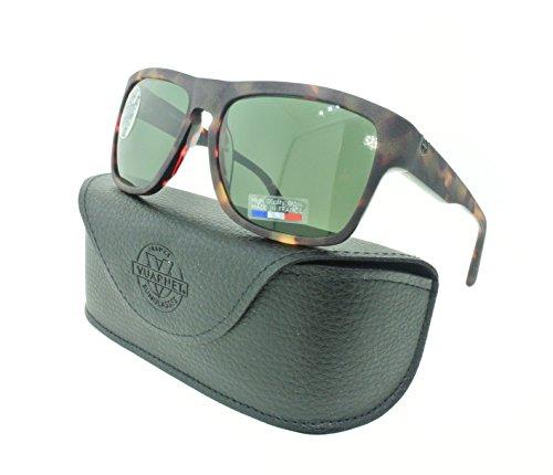 Vuarnet Sunglasses 1409 0004 1121 Matte Tortoise / Green PX 3000 - Sunglasses Px