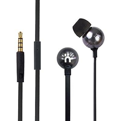 Hoomia D8 Dual 6mm+9mm Drivers In-Ear Stereo Earphone with Micro Phone Black