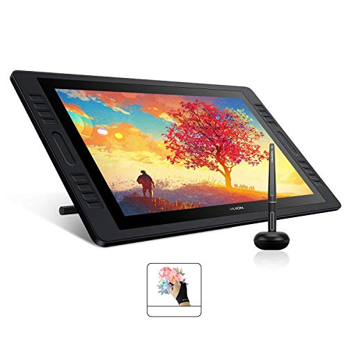 HUION Kamvas Pro 20(2019) Drawing Monitor Pen Display 19.5 Inch IPS Graphic Tablets with Screen, Full-Laminated Technology, 8192 Battery-Free Pen