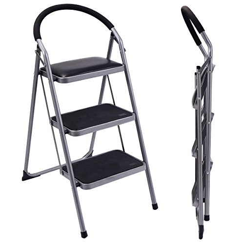 Ginatex Non-slip 3 Step Ladder Lightweight Folding Stool Platform Heavy Duty Industrial (3 Step) by Giantex (Image #2)