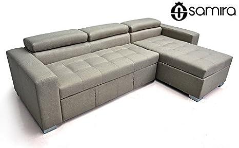 Divano letto angolare con chaise longue a destra - Divano 3 posti ...