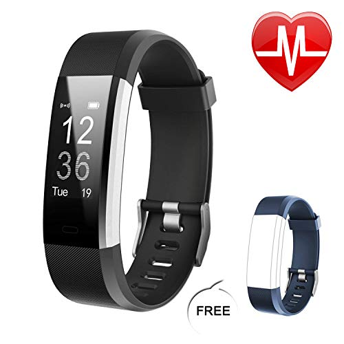 Letsfit Fitness Tracker HR, Heart Rate Monitor Activity Tracker, Pedometer Watch, Step Counter, Step Tracker and Sleep Monitor, Bluetooth Sport Watch for Kids Women Men