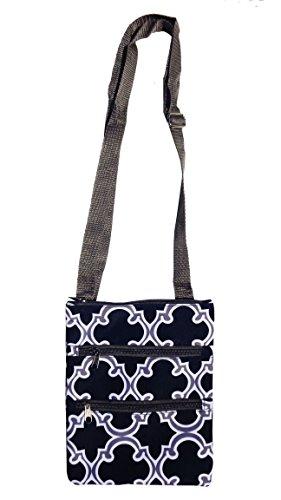 Top Best Selling Deal Gray Quatrefoil Inexpensive Fabric Hipster Messenger Bag Swing Pack Purse Popular Best Unique Cool Christmas Clearance DealBeauty Gift Idea Women Teen Girl Teacher 2017