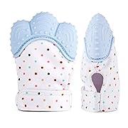 Kean Silicone Baby Teething Mitten (Blue 2-Pack)