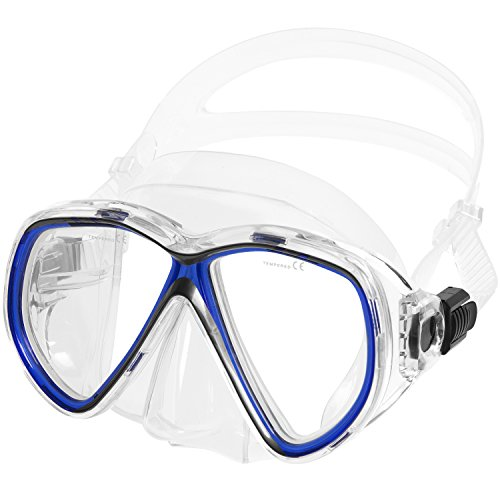 - IST M75 Martinique Dual-Window Diving Snorkeling Mask (Clear Blue)
