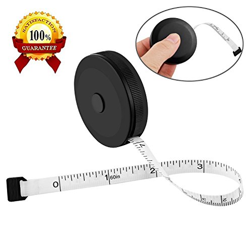 Retractable Soft Tape Measure for Sewing Tailor Cloth Ruler 150cm/60inch Black (Ruler Measure Tape)