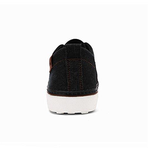 Casual Color Uomo Tela Sneakers Trend Youth Pure Moda Scarpe Cricket da Nero Jeans Scarpe di TEgndq