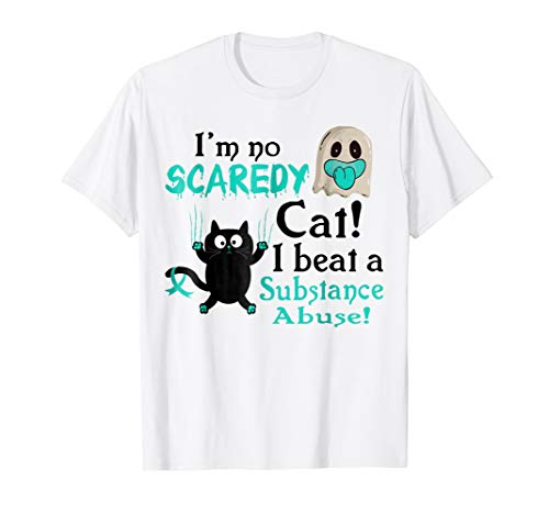 I'm No Scaredy Cat I Beat Substance Abuse Halloween Shirt for $<!--$19.99-->