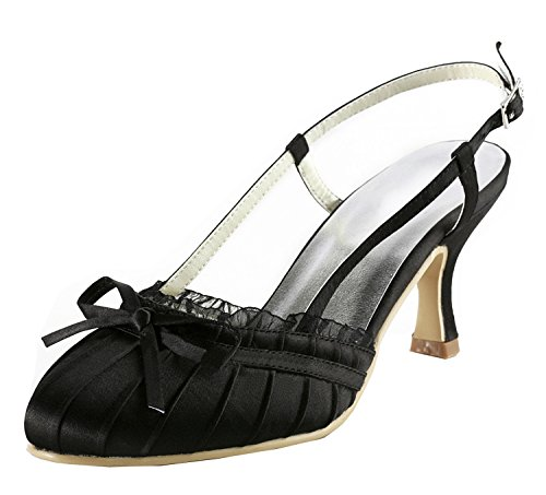Kevin Fashion ,  Damen Modische Hochzeitsschuhe , schwarz - schwarz/schwarz - Größe: 43 EU