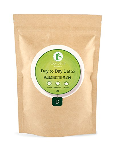 Top to Toe Wellness - Day to Day Detox Tea | Best 100% Natural and Organic Weight Loss Tea | Cleanses Digestive System, Promotes Slimming & Reduces Bloating | With Decaf Sencha | Loose Leaf 84 grams