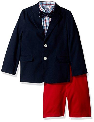 IZOD Kids Little Boys' Four Piece Formal Suit Set, Navy, 05R by IZOD