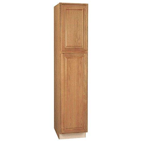 Hampton Bay Hampton Assembled 18 x 84 x 24 in. Pantry/Utility Kitchen Cabinet in Medium Oak (Hampton Products Bay)