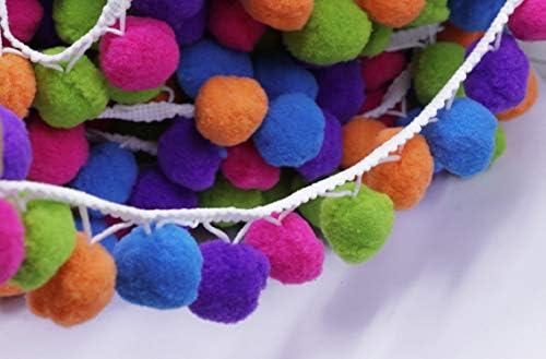 Cinta de pomp/ón arco/íris para coser 4,5 metros YYCRAFT