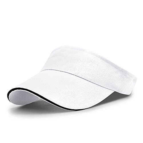 (LAOWWO Men Women Sportwear Sun Visor Hat.golf hat adjustable Tennis Golf Hiking Running All Sport.)