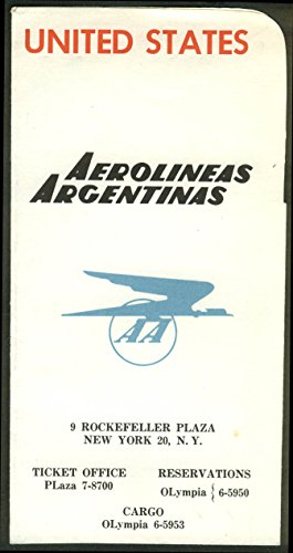 Aerolineas Argentinas AA First Class airline ticket wallet wrapper 1950s Comet 4