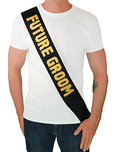 Bachelor Party Accessories (Future Groom Sash - Bachelor Party Supplies Engagement Party Wedding Shower)