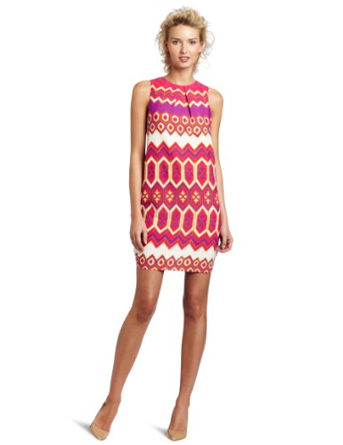 Julie Dillon Women's Sleeveless Printed Shift Dress