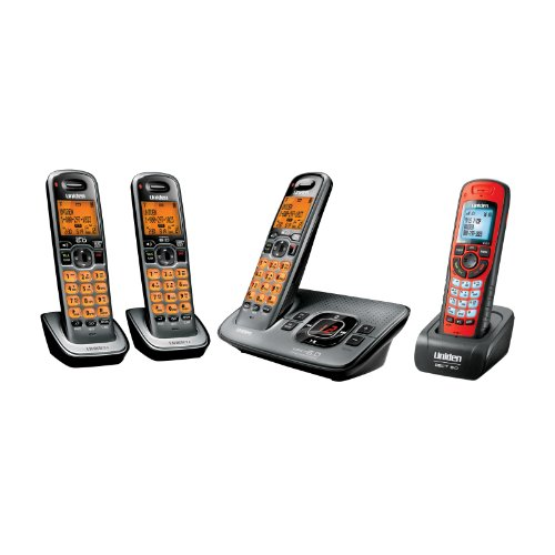 Price comparison product image Uniden D1680-4XT DECT_6.0 Cordless Phone Bundle with 4 Handsets - Including 1 Waterproof Handset