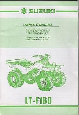 2001 suzuki atv 4 wheeler lt f160 owners manual 105 manufacturer rh amazon com suzuki lt-f160 service manual pdf Suzuki LT 160