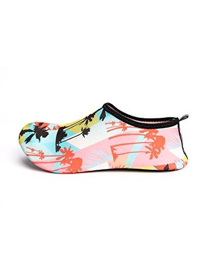 Zzlay Unisex Hurtig Tørre Vann Sko Aqua Sokker Barefoot Beach Svømme Bassenget Surfe Yoga Trening Kokos Treet