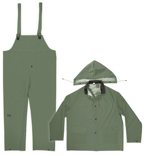 Custom Leathercraft Rain Wear R131X .35MM Green 3-Piece R...