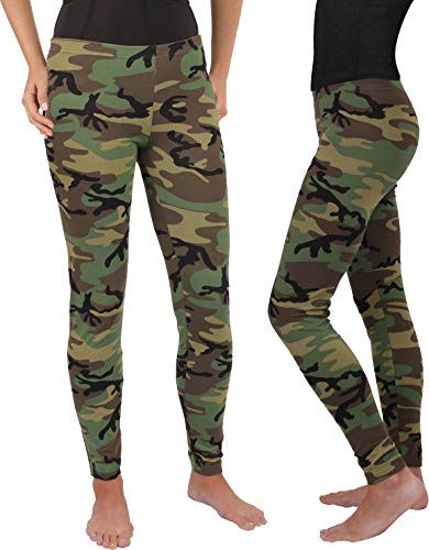 (AccessoriesClothing New Women's Woodland Camouflage Military Spandex Leggings)