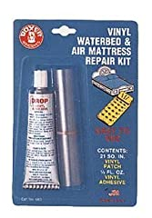 Instructions: Pinholes and punctures can be sealed without patches by applying a drop of adhesive over the damaged area and allowing it to dry. For areas larger than a pinhole or puncture, cut a patch larger than damaged area and round the co...