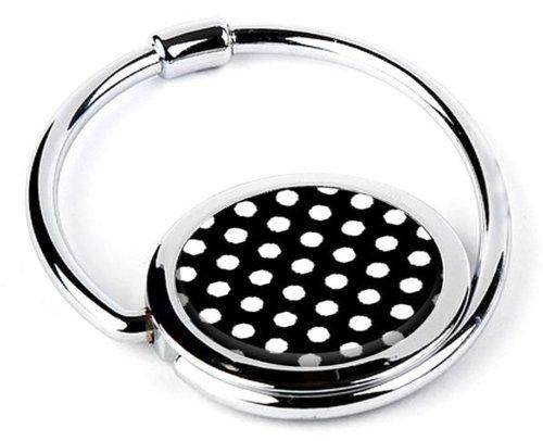 Fab Swank Black & White Polka Dot Print Purse Hook