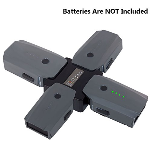 Price comparison product image NIUTOP DJI Mavic Pro Smart Digital Screen Display 4 in 1 Battery Charger Hub (Batteries Are NOT Included)