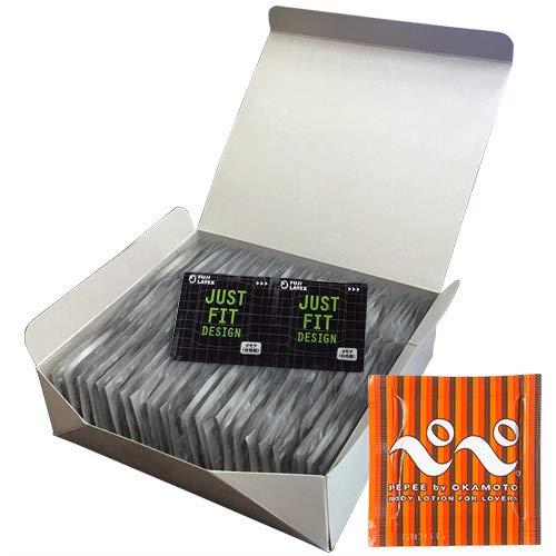 不二ラテックス ジャストフィット タイト(JUST FIT TIGHT) Sサイズ 144個入り×5箱 + オカモト ぺぺローション5mL(PEPPE)セット 5箱  B07L63MRK5