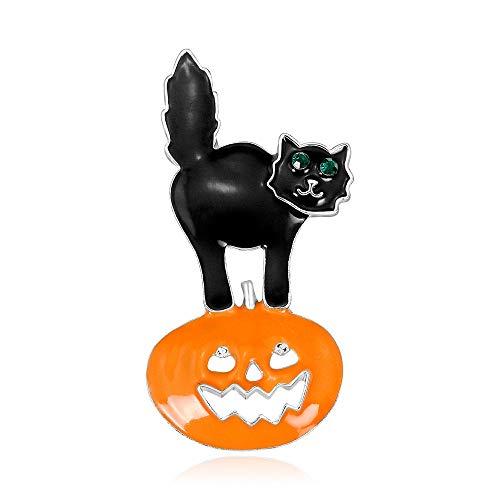 Happy Halloween Cat Gif - CAROMAY Happy Halloween Brooch Women Men