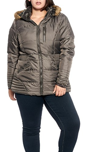 Womens Quilted Sherpa lined Removable Fur trimmed product image