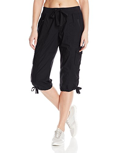 Calvin Klein Performance Women's Rib Waist Band Convertible Capri Cargo 14