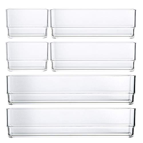 STORi Clear Plastic Drawer Organizers | 6 Piece Set by STORi