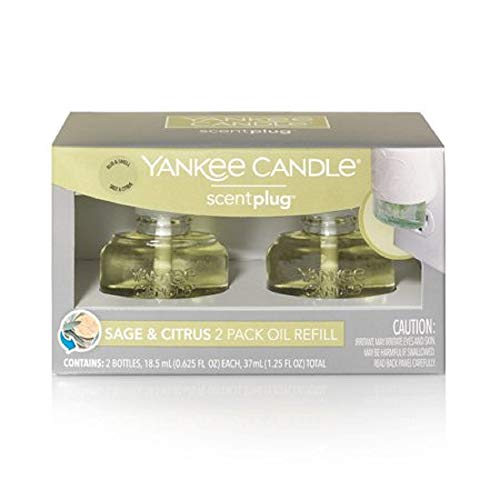 Yankee Candle ScentPlug Sage & Citrus 2 Pack Oil Refill, 1.25 FL ()