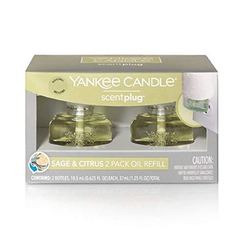 Yankee Candle ScentPlug Sage & Citrus 2 Pack Oil Refill, 1.25 FL OZ (Yankee Sage Citrus Candle)