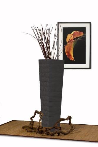 Diamond Sofa Accent Flower Floor Vase, Dark Walnut