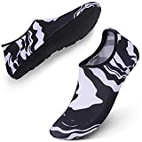 L-RUN Athletic Pool Beach Walking Sandals Water Shoes for Kids Boys Girls Black S Little Kid