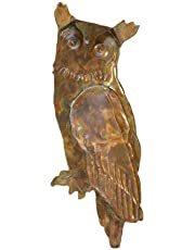Ancient Graffiti Flamed Copper Hanging Owl