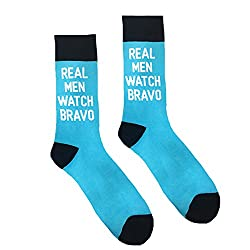 Real Men Watch Bravo Custom Knit Socks