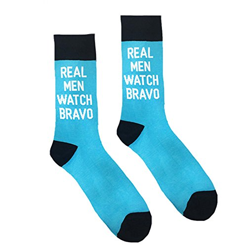 Real Men Watch Bravo socks